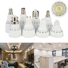Regulable COB LED Spotlight GU10 bombilla luces GU5.3 E12 B15 E27 E14 B22 bayoneta 7W 9W 12W MR16 DC 12V Super brillante 110V 220V(China)