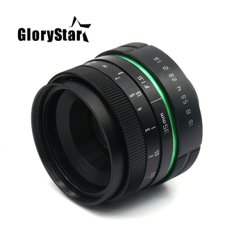 GloryStar 35mm f1.7 new green circle Large Aperture Manual Focus camera  lens APS-C For Sony E Mount cameras NEX7 a6300