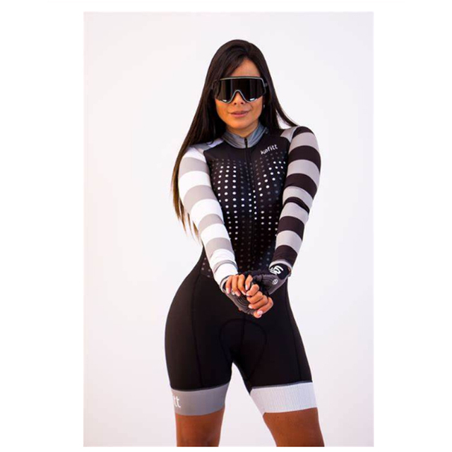 2020 mulheres profissionais triathlon manga longa conjunto skinsuit maillot ropa ciclismo aofly mtb bicicleta roupas macacão fino almofada esponja macaquinho ciclismo feminino manga longa roupas com frete gratis macaca 1