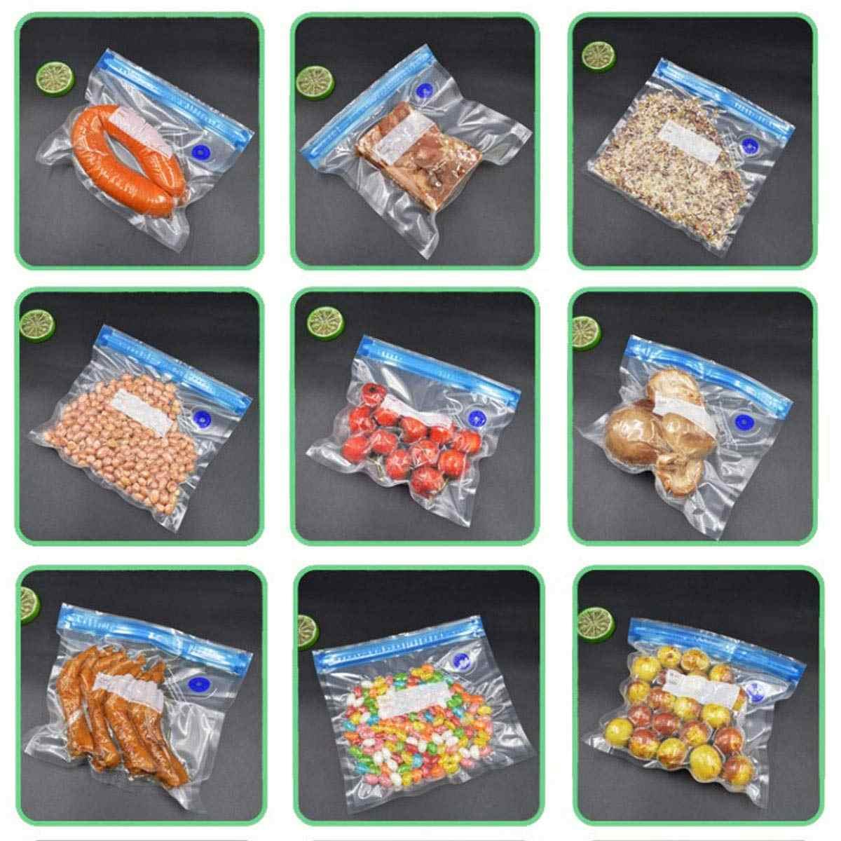 De vacío de almacenamiento de alimentos bolsas de almacenamiento 10 piezas 3 tamaños de la bomba de mano de reutilizable Ultra grueso libre de BPA comida de la conservación de alimentos 2019 Dropshipping. Exclusivo.