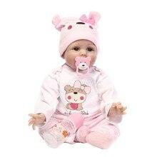 Muñecas de silicona realistas para bebé, juguete de 22 pulgadas, 55 cm