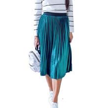Damskie Vintage jesienno zimowa damska aksamitna spódnica z wysokim stanem elegancka seksowna chuda czarna plisowana spódnica kobiece długie spódnice damskie