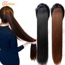 MEIFAN Long Straight Synthetic Natural Ponytail Clip in Ponytail Hair Extension False Hair Drawstring Wrap on Ponytail Hairpiece(China)
