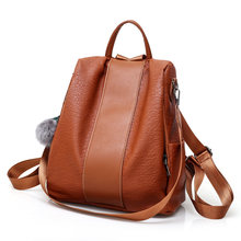 anti-theft design women backpack purse casual women daypack female rucksack(China)