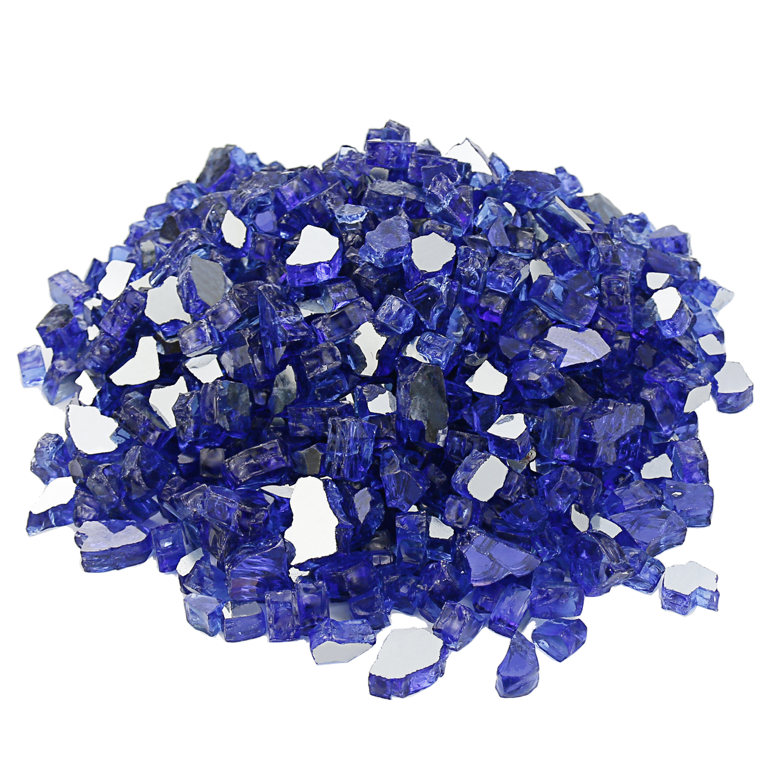 Hisencn 1.8 KG And1/2 Inch Cobalt Blue Reflective Fire Glass Decorative For Natural Or Propane Fire Pit, Fireplace