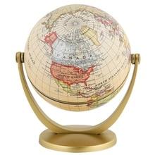 Ретро вращающийся глобус мира Земля античный домашний рабочий стол декор, география, обучающая карта, школьные принадлежности