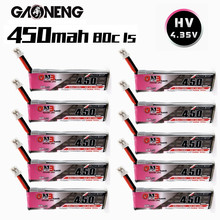 Аккумулятор GNB 1S 450 мАч 3,8 в 80C Max 160C 4,35 в HV Lipo для дрона M80S Tiny7 Beta75S Emax Tinyhawk Snapper7 с разъемом PH2.0, 10 шт.