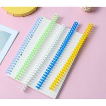 5pcs 30 Hole Loose-leaf Plastic Binding Ring Spring Spiral Rings for 30 Holes A4 A5 A6 Paper Notebook Stationery Office Supplies