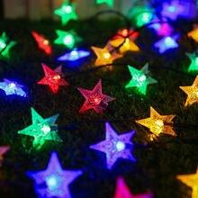 Светодиодсветильник уличная гирлянда со звездами на солнечной