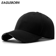 Black Adult Unisex Casual Solid Couple Baseball Caps Snapbac