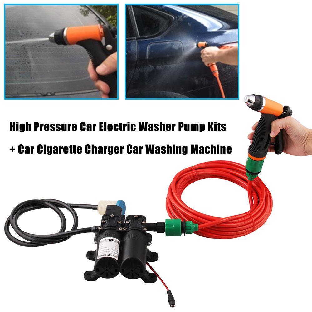 100W 160PSI haute pression voiture électrique laveuse lavage pompe 12V Automobile laveuse lavage pompe voiture nettoyage avec tuyau de pression