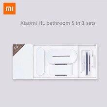 Xiaomi mijia HL ห้องน้ำ 5 in 1 ชุดสำหรับสบู่ฟันตะขอกล่องโทรศัพท์สำหรับห้องน้ำเครื่องมือห้อง