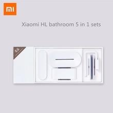 Xiaomi mijia HL ensemble de salle de bain 5 en 1 pour boîte de rangement à crochet à dents de savon et support pour téléphone pour salle de bain outil de salle de douche