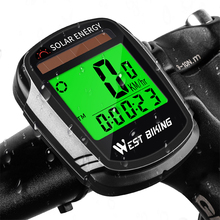 WEST BIKING Bike Computer With Solar Powered Wireless Waterproof Bicycle Speedometer Odometer Automatic Wake-up Cycle