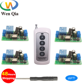цена на 433Mhz Universal Wireless Remote Control Switch AC 110V 220V 1 CH Relay Receiver Module 4CH RF LED Remote Transmitter Light Lamp