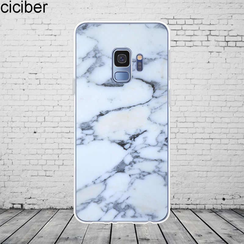 Coque en marbre coloré ciciber pour Samsung Galaxy S 6 7 8 9 Edge Plus Coque de téléphone pour Galaxy Note 3 4 5 8 9 10 Plus housse souple en TPU