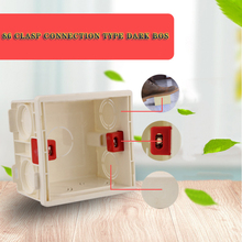 Adjustable Mounting Box Internal Cassette 86mm*86mm*53mm For 86 Type Switch and Socket White Red Blue Wiring Back Box
