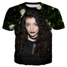 Popular Singer Lorde Men/women New Fashion Cool 3D Lorde Printed T-shirt Casual Style T Shirts Streetwear Tee Tops Dropshipping