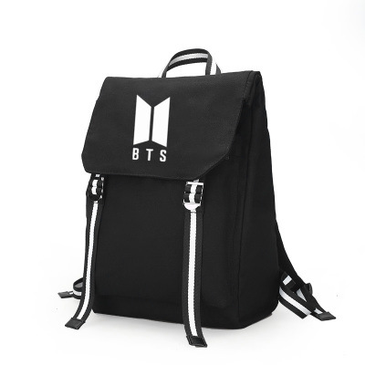 BTS Related Celebrity Inspired Backpack Student School Bag Computer Bag Travel Casual Canvas Bag