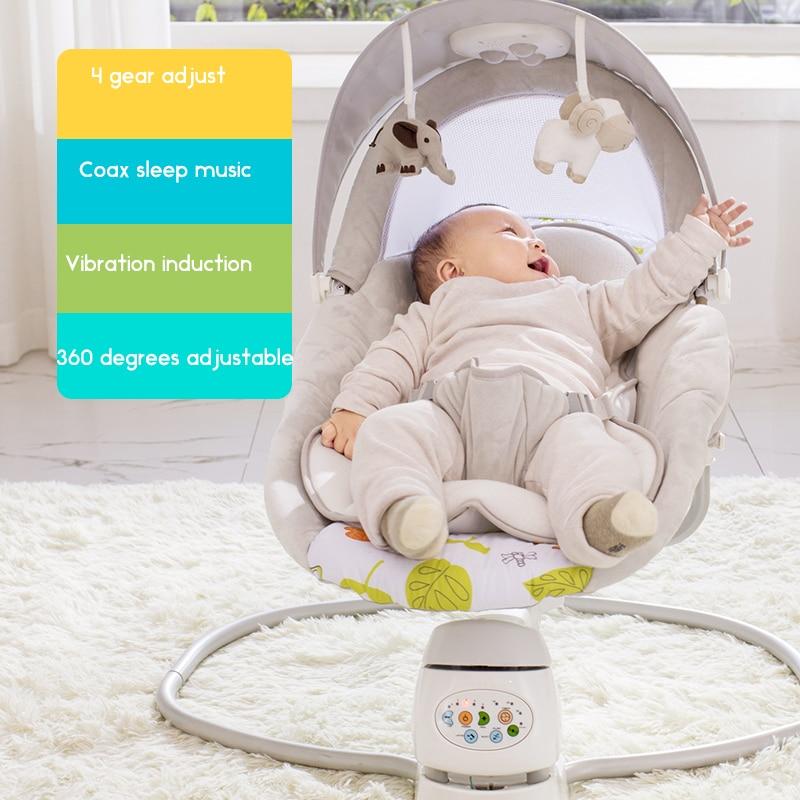Newborn Gift Multi-function Music Electric Swing American Baby Comfort Shake Chair BB Cradle Baby Swing Chair
