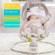 Balançoire électrique multifonction pour nouveau-né, musique, américain, confortable, chaise à secouer, berceau pour bébé, cadeau pour nouveau-né