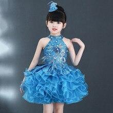 Детские многослойные платья с бусинами для свадебной вечеринки размеры от 2 до 10, пышное мини-платье с вырезом лодочкой для маленьких девочек Бальные платья