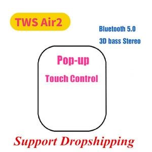 Копия Air2 наушники-вкладыши Tws Bluetooth наушники копия 1:1 Беспроводной наушники GPS изменить название наушники с микрофоном Беспроводной зарядки ...