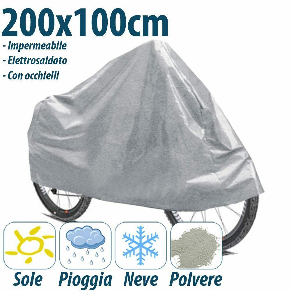 TELO COPRI MOTO E SCOOTER BICI IMPERMEABILE 200X100 REBECA SHOP