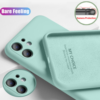 Case For iPhone SE 2020 11 Pro Max XS XR X 8 7 Plus 6s Luxury New Original Liquid Silicone Camera Cover Protection Back Cover image