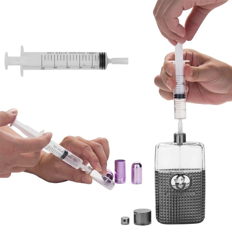 MUB - 5pcs/lot Syringe Plastic Perfume Dispenser Tools 10ml Refill Cosmetic For Refillable Bottle Quantitative Dispensing
