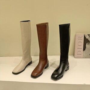 women boots  Women's high boots women's knee boots women's new 2020 knight boots boots leather boots women