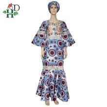 Восковые платья h & d из Анкары для женщин африканский восковой