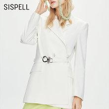 Женское пальто блейзер sispell с металлической пряжкой и отложным