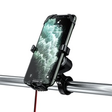 Phone Charger Bicycle Motorcycle Phone Holder 2.4A USB Charging Bike Handlebar Phone Stand Bracket for iPhone 11 pro Samsung S10