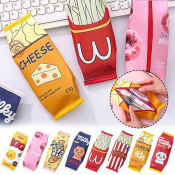 Small Fresh And Interesting Simulation Snack Lovely Pen Bag Children Students Simple Large-capacity Stationery Storage
