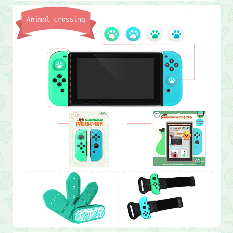 NS Switch Animal Crossing Console Case PC Hard Shell Cases Cover For Nintendo Switch Joy Con Silicone Case Cover Accessories