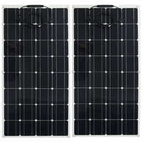 ETFE Flexible Solar Panel 100W 200w Semi System Kit Black Class A solar mono crystalline solar cell 12V or 24v dc panels 100watt
