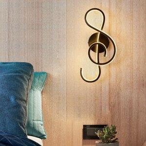 Image 4 - LED duvar lambası Modern duvar lambası yatak odası başucu okuma kapalı duvar lambaları oturma odası koridor otel odası aydınlatma dekorasyon