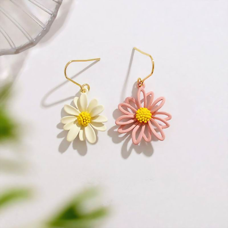 2020 New AB Design Flower Earrings Personality Daisy Boho Jewelry Beach Holiday Jewelry Sweet Pendientes Wholesale
