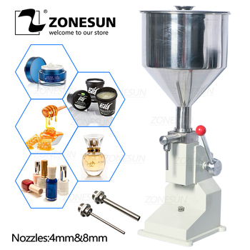 ZONESUN Manual Food Filling Machine Nail Polish Cosmetic Cream Honey Liquid Paste Packaging Equipment Shampoo Juice Filler high quality manual hand pressure food filling machine paste liquid filler cream filling machine 1 50ml
