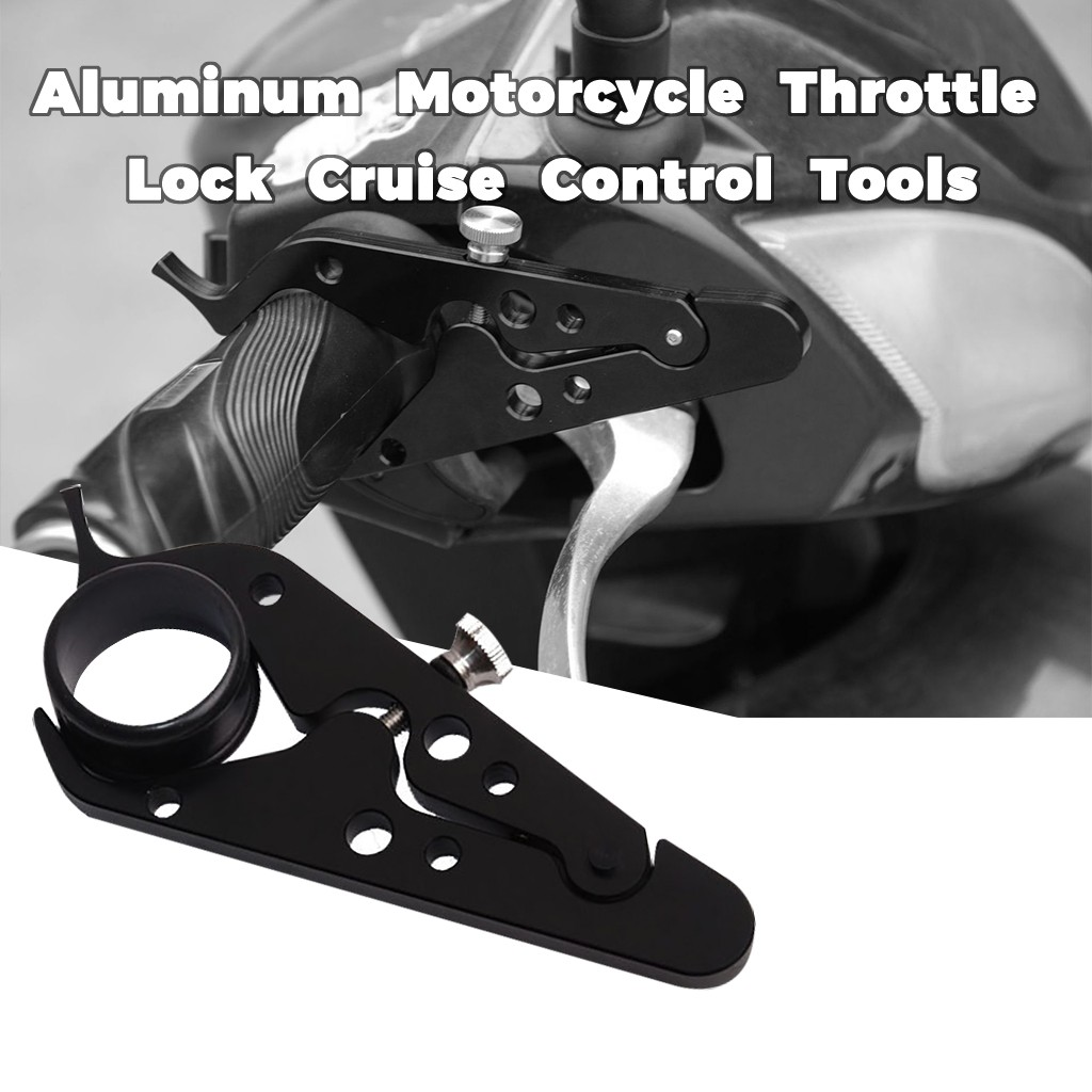 Franchise Black Motorcycle CNC Cruise Control Throttle Lock Assist Retainer Grip Useful Motorcycle Constant Speed Control Tools