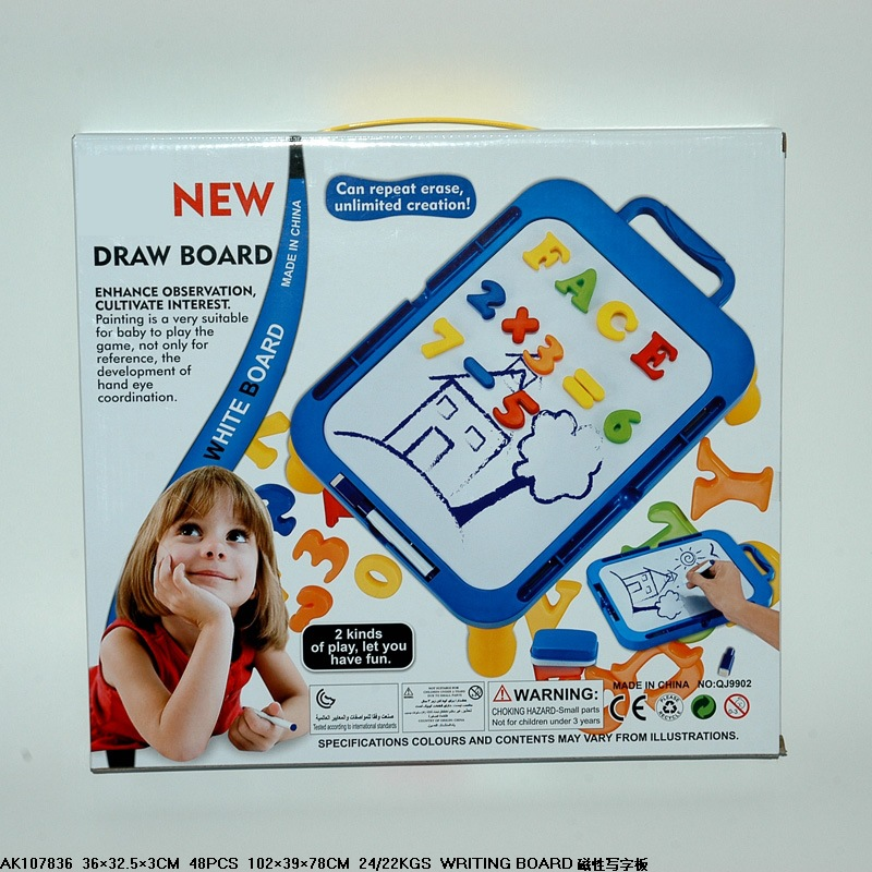 Export Toy Magnetic Drawing Board 36*32.5 Cm Baby Educational Early Childhood Cognitive Plastic Toy CHILDREN'S Drawing Board