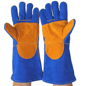 Work Gloves Cowhide Leather Lengthened Men Working Welding Gloves Safety Protective Garden Sports Wear-resisting Gloves kopilova 1pairs welding gloves cow suede lengthen fire proof sputtering protection gloves wear resisting for finger protection