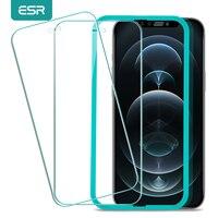 ESR-Protector de pantalla de vidrio templado para iPhone, película antiluz azul HD para iPhone 12 Pro X XR XS 11 Pro Max SE 2020 8/7/6S/6 Plus