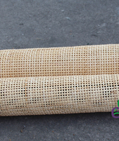 Indonesia natural rattan sheet square grids outdoor furniture chair bed sofa material accessory