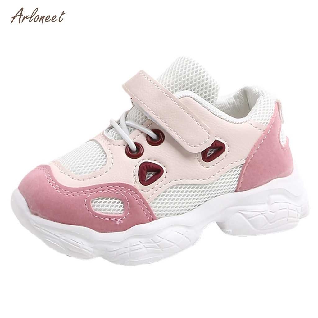 High quality 2019 autumn Breathable Toddler Infant Kids Baby Girls Boys Soft Sole Mesh Running Sport Shoes Sneakers for Kids