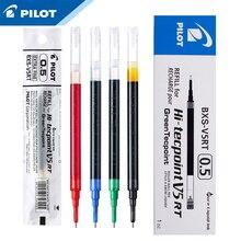 12 pièces Pilot BXS V5RT(VR5) Gel encre stylo recharge pour hi techpoint BXRT V5/GR5 liquide 0.5mm roller ball couleur noir/bleu/rouge
