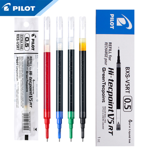 Image 1 - 12Pcs Pilot BXS V5RT(VR5) Gel Ink Pen Refill for Hi Techpoint BXRT V5/GR5 Liquid  0.5mm Rollerball  Black /Blue /Red Color