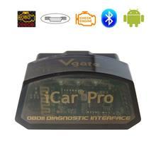 Original Vgate iCar Pro ELM327 OBD2 Car Diagnostic Tools Bluetooth3.0/4.0 ELM 327 OBD 2 Scanner For iOS/Android