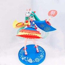 Anime Hatsune Miku Summer Uniform Ver PVC Action Figure Collectible Model doll toy 20cm anime hatsune miku v4x vocal project diva pvc action figure juguetes collectible model doll kids toys 20cm